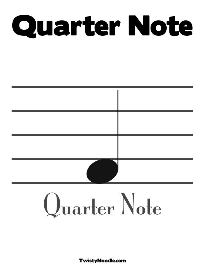 Quincy Quarter Note Coloring Page | Coloring Pages