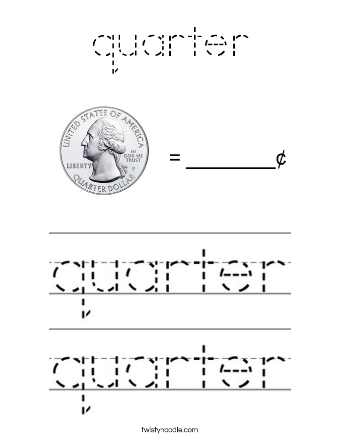 quarter Coloring Page
