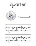 quarter Coloring Page