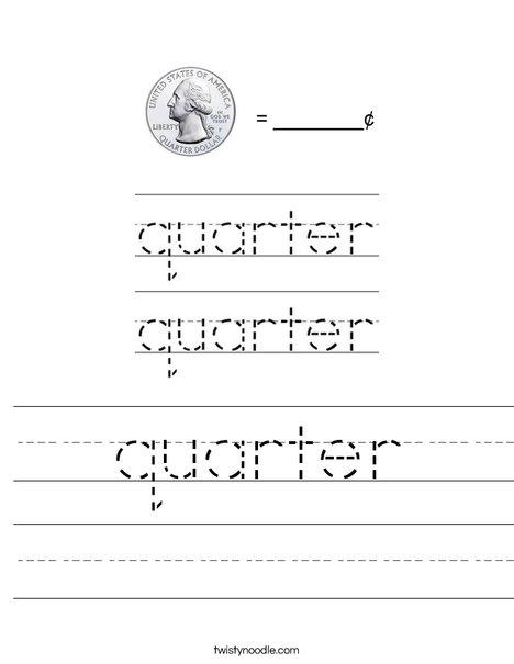quarter Worksheet