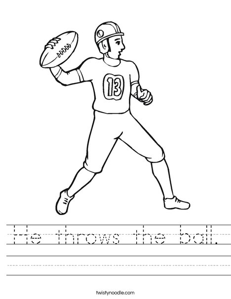Quarterback Worksheet