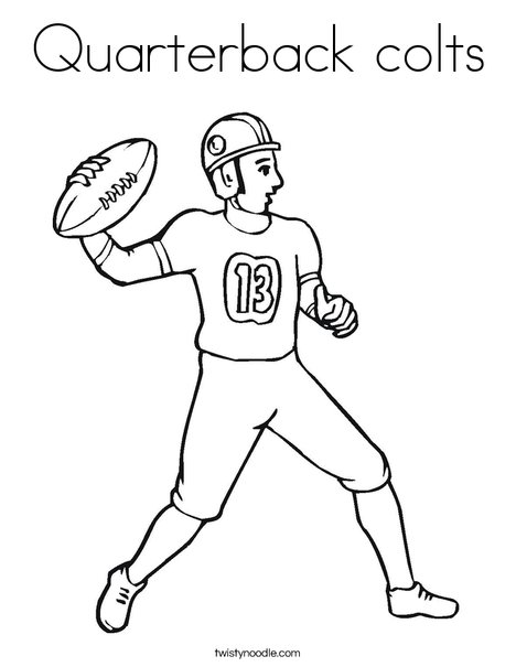 Quarterback colts coloring page twisty noodle for Colts coloring page