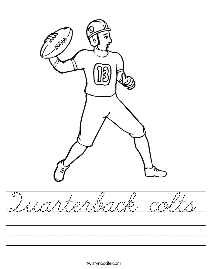 Quarterback colts Worksheet
