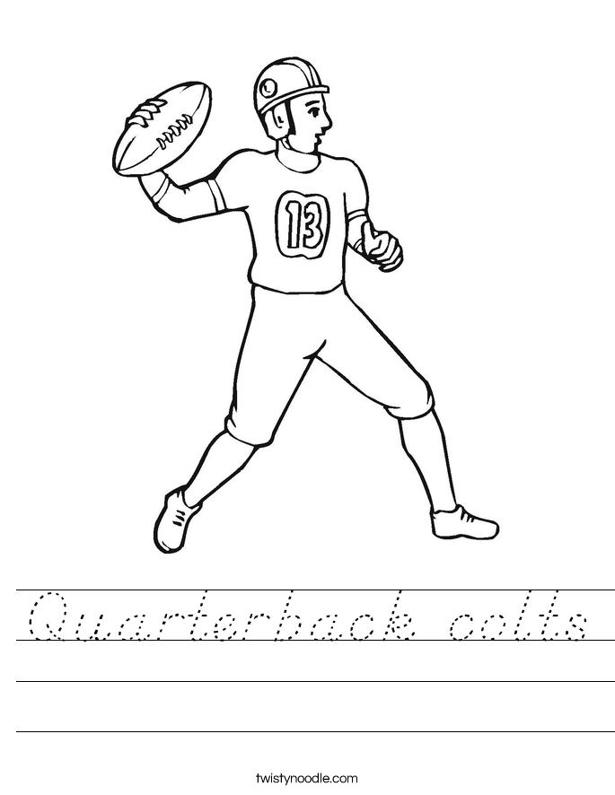 Quarterback colts Worksheet