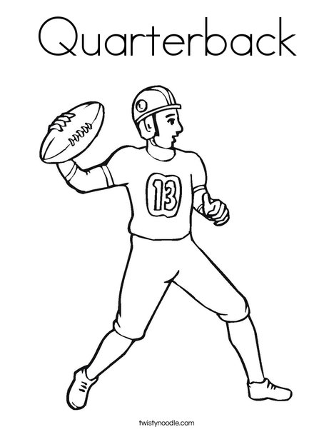 Quarterback Coloring Page  Twisty Noodle