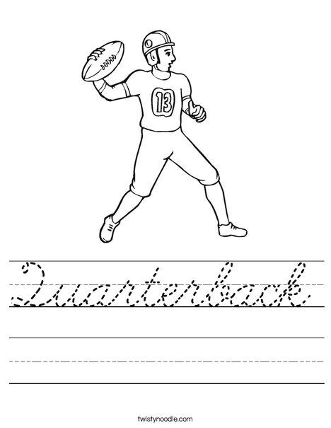 Quarterback Worksheet