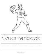 Quarterback Handwriting Sheet