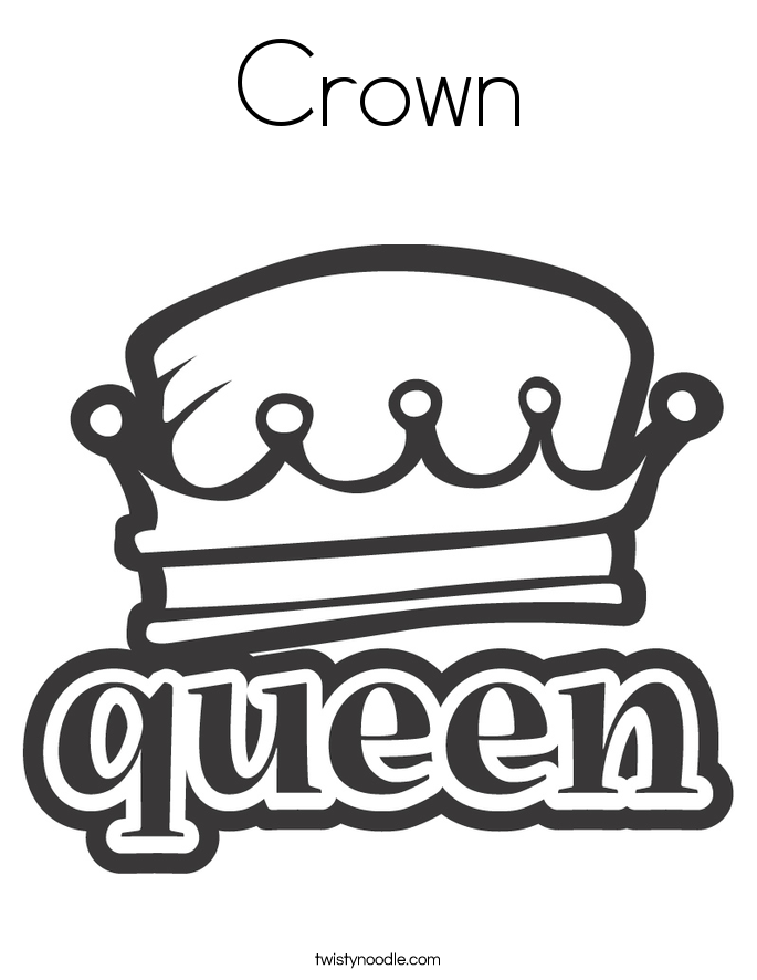 Crown Coloring Page - Twisty Noodle