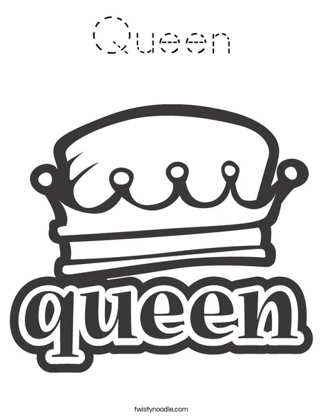 Queen Coloring Page