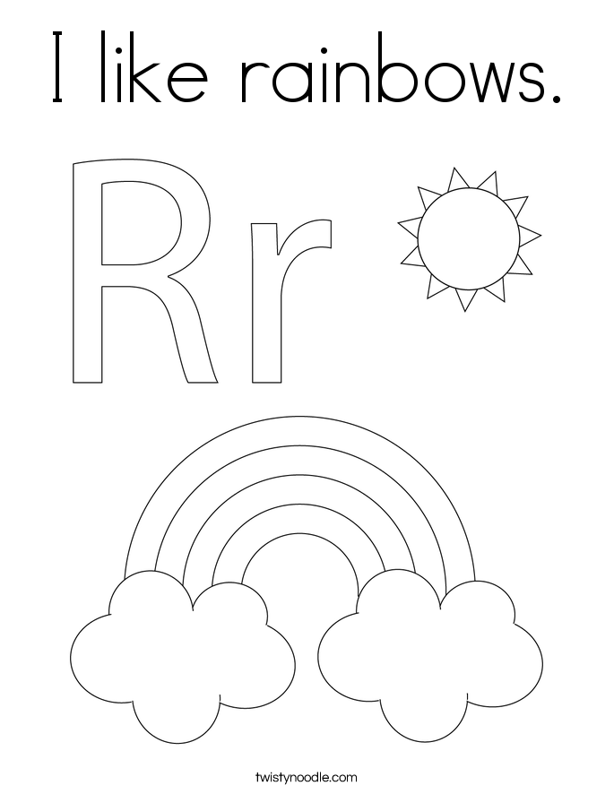 I like rainbows. Coloring Page