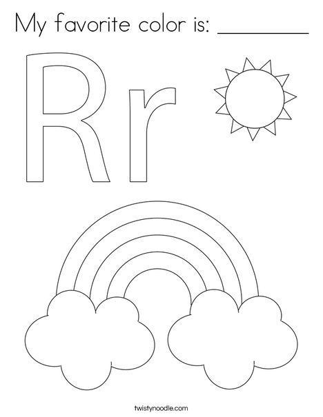 R is for Rainbow Coloring Page