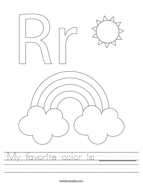 R is for Rainbow Worksheet