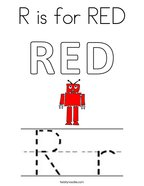 R is for RED Coloring Page