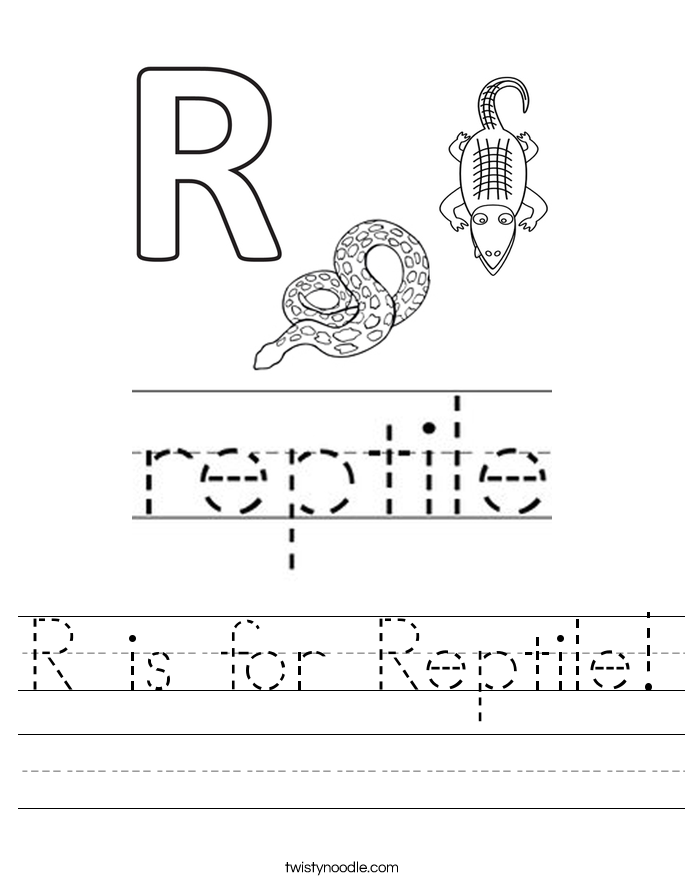 R is for Reptile! Worksheet