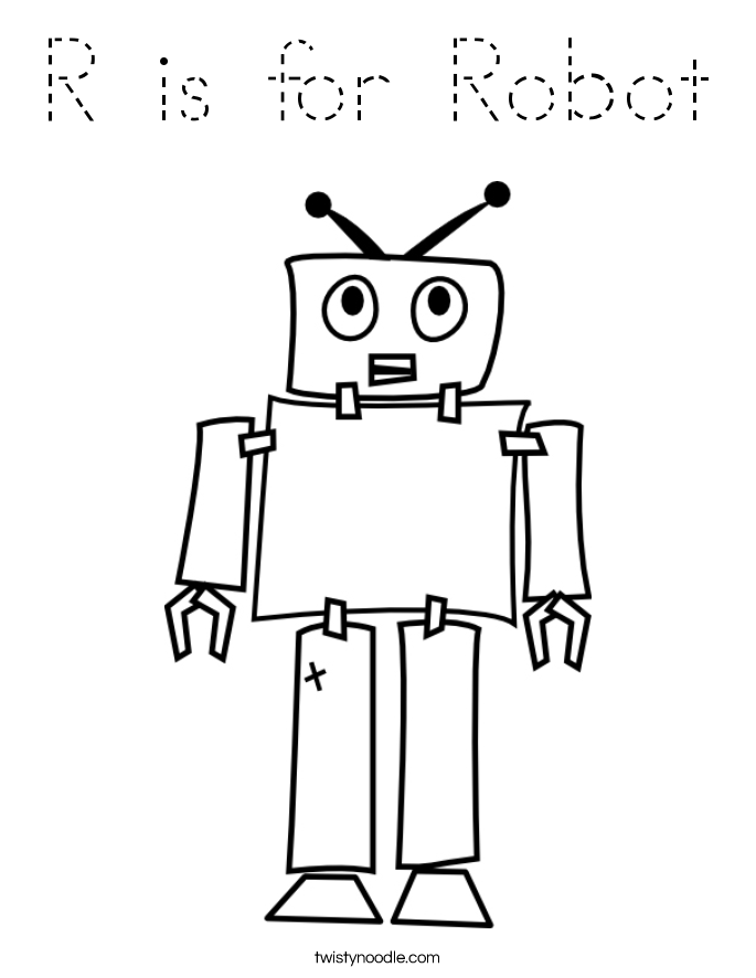 r-is-for-robot-5_coloring_page-blockoutline Letter D Tracing Template on tracing letters preschool, tracing letters worksheets printable, capital letter d template, letter d duck template, tracing sight words template, letter d dinosaur template, tracing numbers template, tracing letters a-z worksheets,