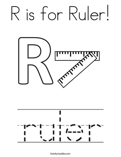 R is for Ruler Coloring Page