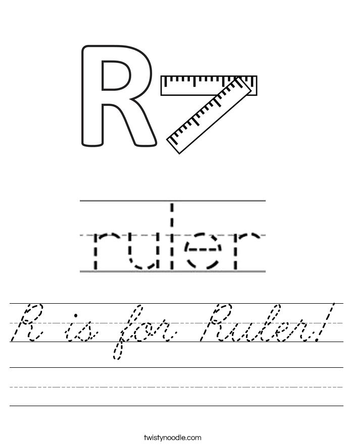 R is for Ruler! Worksheet
