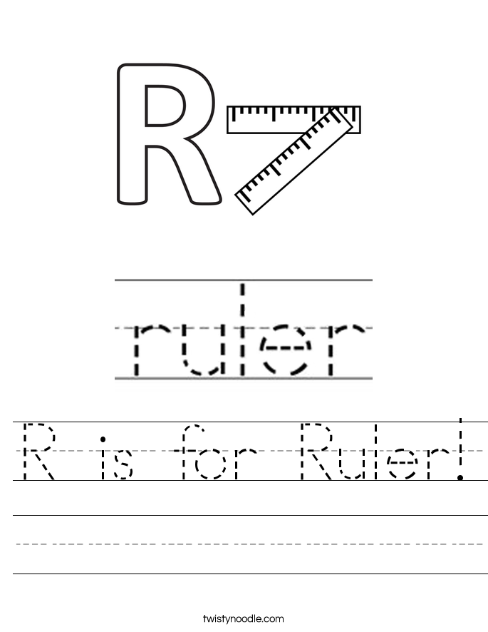 R is for Ruler! Worksheet