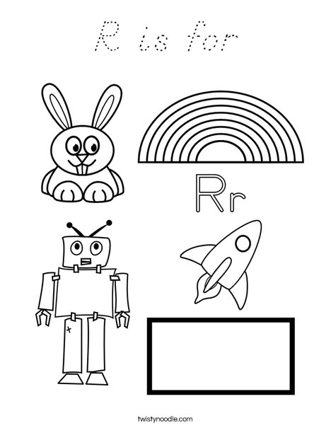 R is for Coloring Page