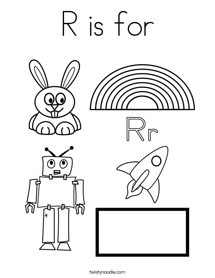R Is For Ring Coloring Pages R is for Coloring Page...