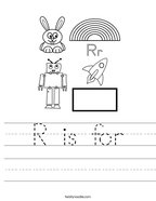R is for Handwriting Sheet