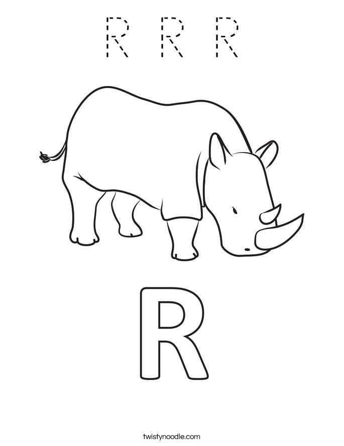 R R R Coloring Page