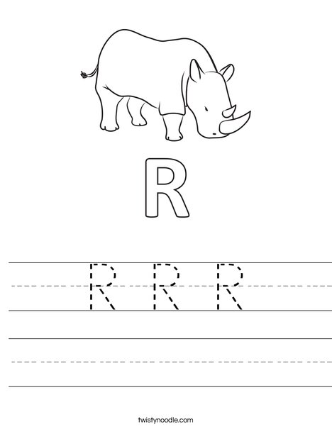 R Rhinoceros Worksheet