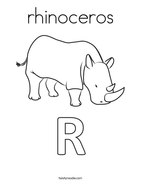 rhinoceros Coloring Page - Twisty Noodle