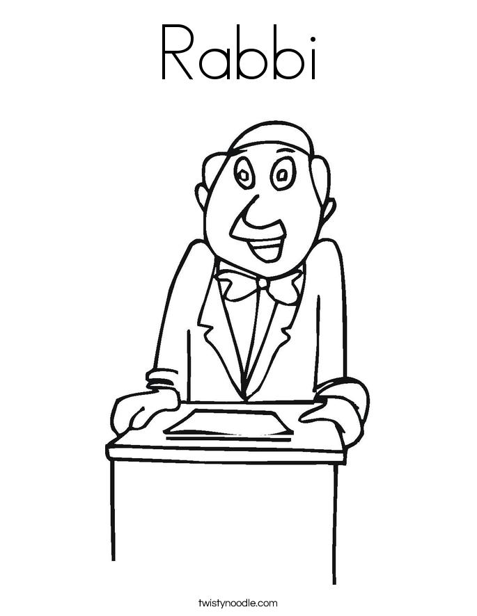 Rabbi Coloring Page