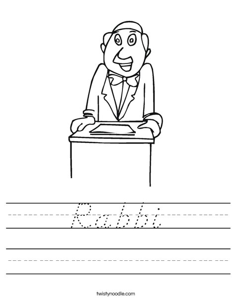 Rabbi Worksheet