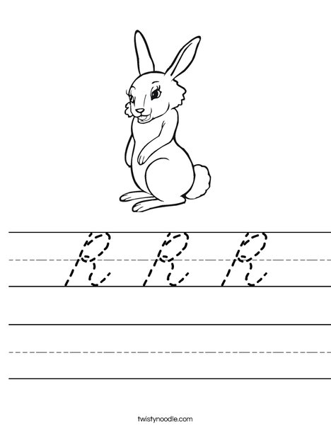 Cute Rabbit Worksheet