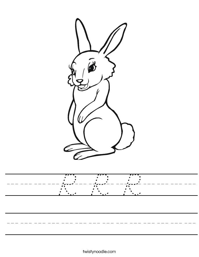 R R R Worksheet