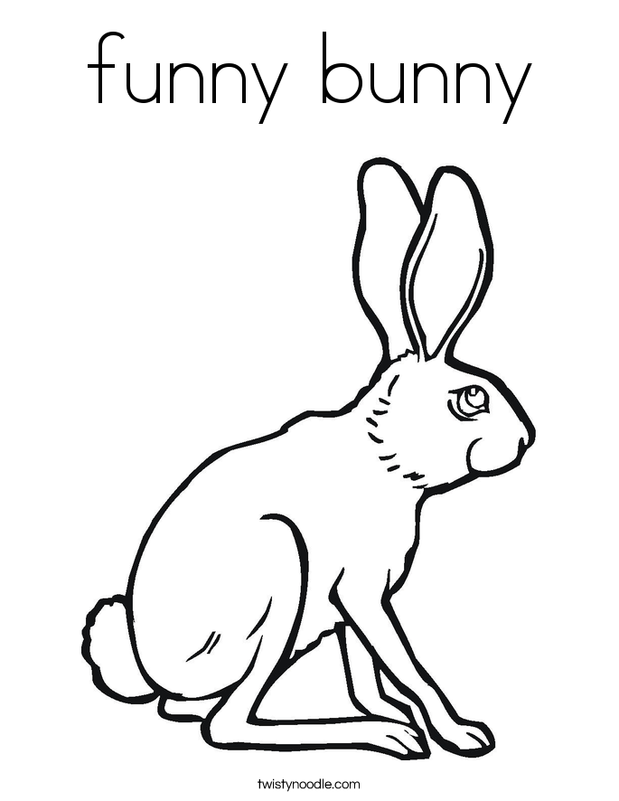funny bunny Coloring Page