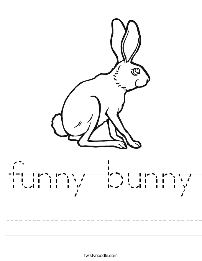 funny bunny Worksheet