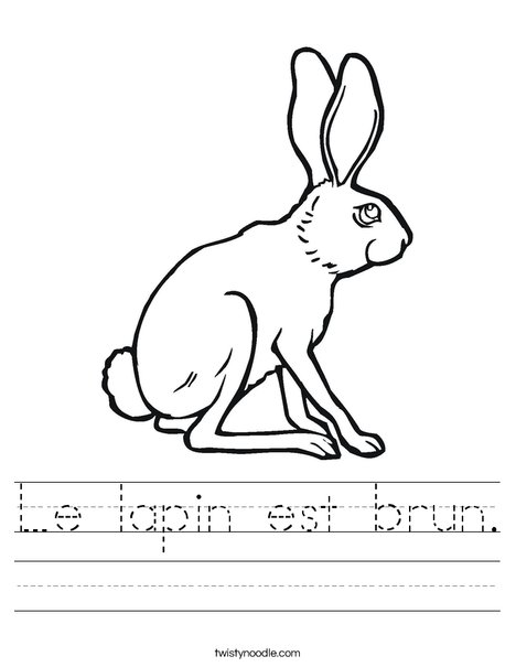 Hare Worksheet