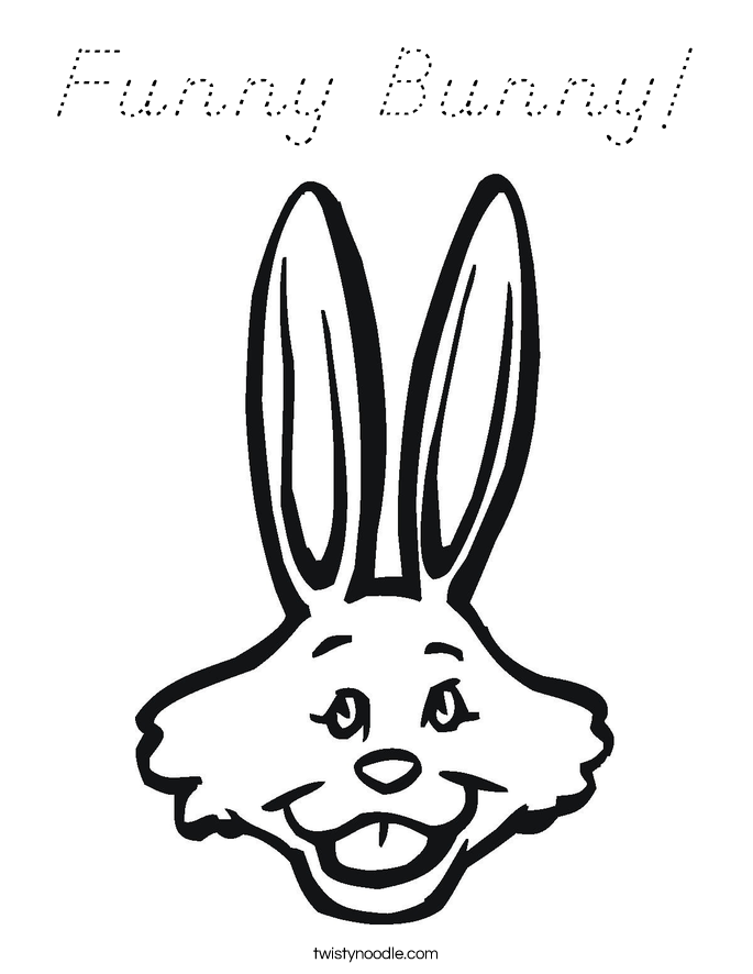 Funny Bunny! Coloring Page