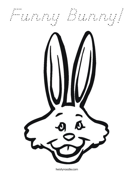 Rabbit with Long Ears Coloring Page