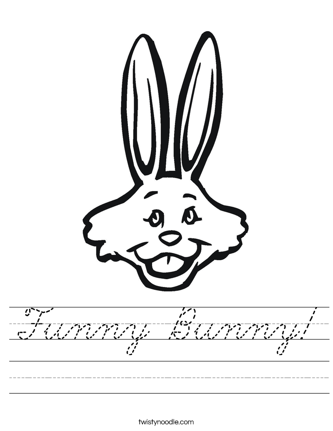 Funny Bunny! Worksheet