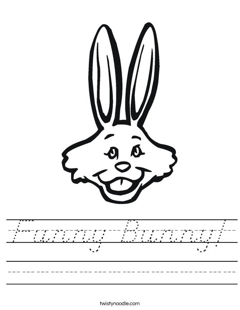 Rabbit with Long Ears Worksheet