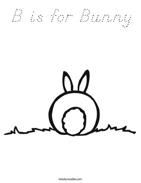 Rabbit Tail Coloring Page