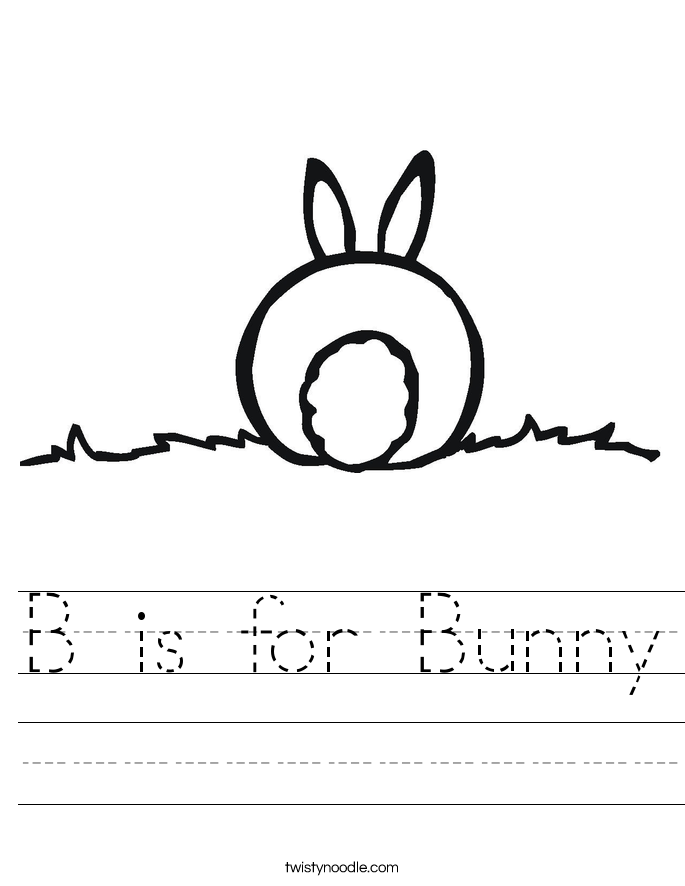 B is for Bunny Worksheet