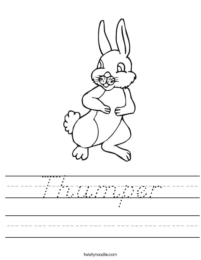Thumper Worksheet