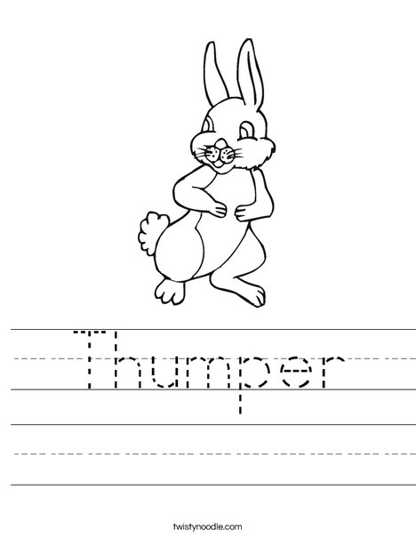 Thumper Rabbit Worksheet
