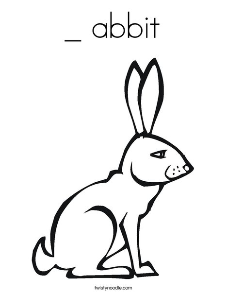Pink Rabbit Coloring Page