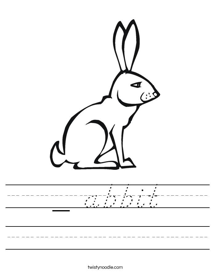 _ abbit Worksheet