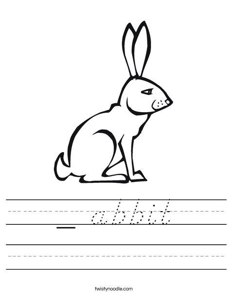 Pink Rabbit Worksheet
