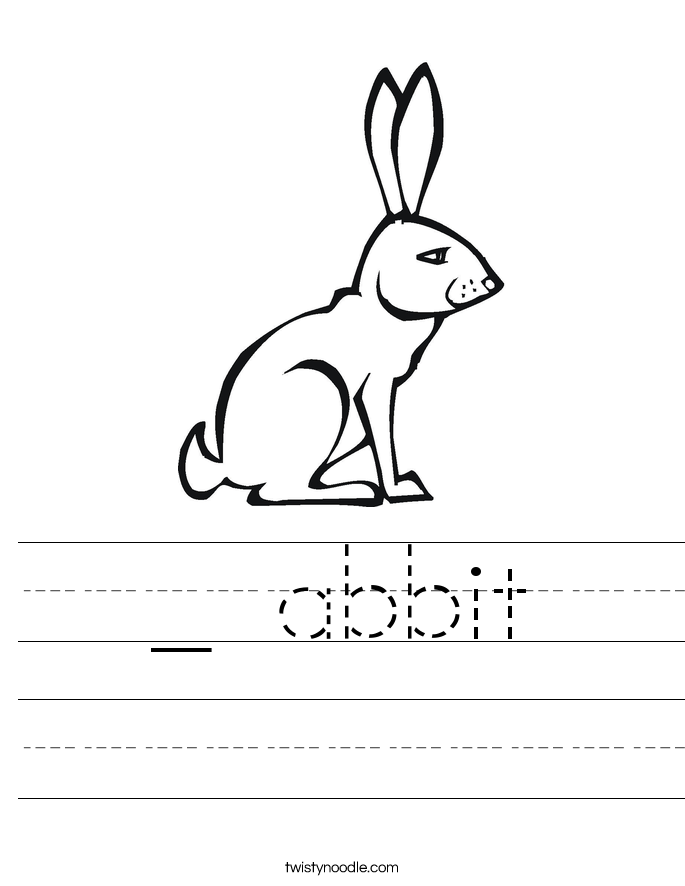 _ abbit Worksheet