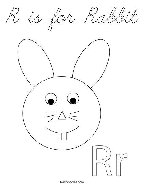 Rabbit Head Coloring Page