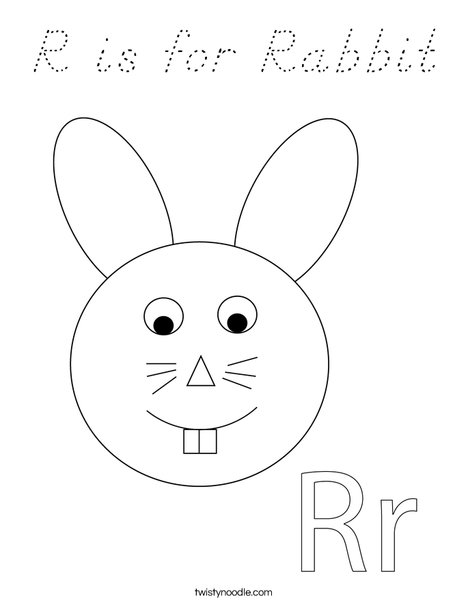 Rabbit Head Coloring Page