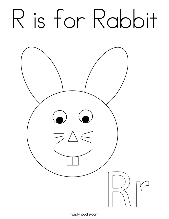 R Is For Rabbit R is for Rabbit Colori...